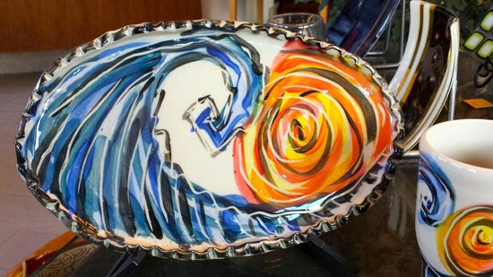 Fiddlehead at Four Corners: Pottery platters