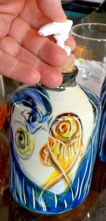 Fiddlehead at Four Corners: Pottery soap or lotion pumps