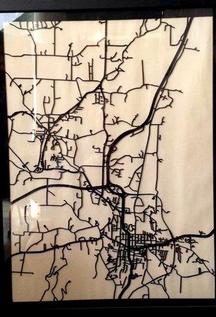 Fiddlehead at Four Corners : 3D laser-cut city maps