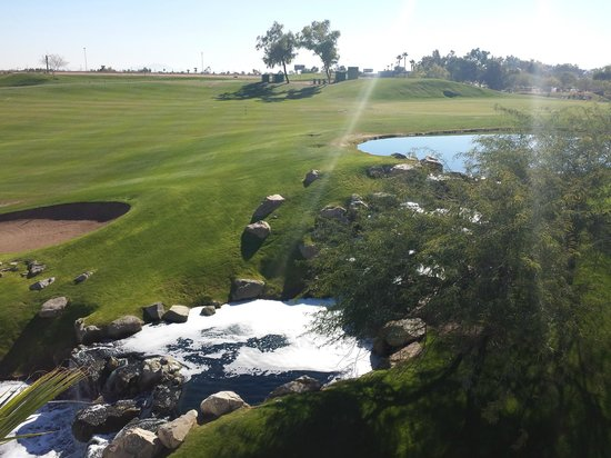 Arizona Grand Resort & Spa: From our room's patio overlooking the golf course