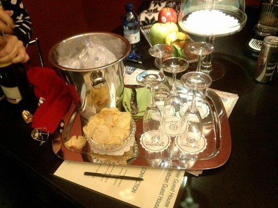 St Peter Guest House: Il nostro aperitivo di benvenuto