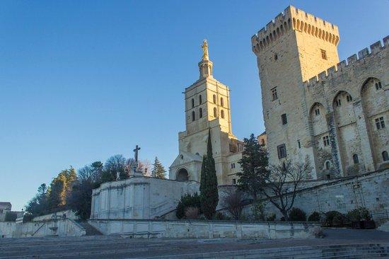 Cathédrale Notre-Dame-des-Doms : Собор НотрДам и кусочек Папского дворца