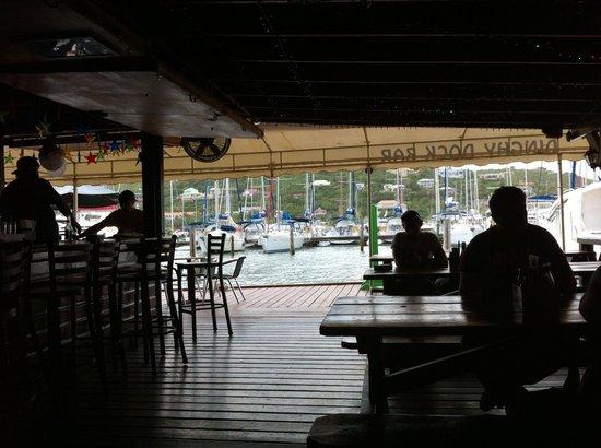Dinghy Dock Bar OP: Sitting several tables back