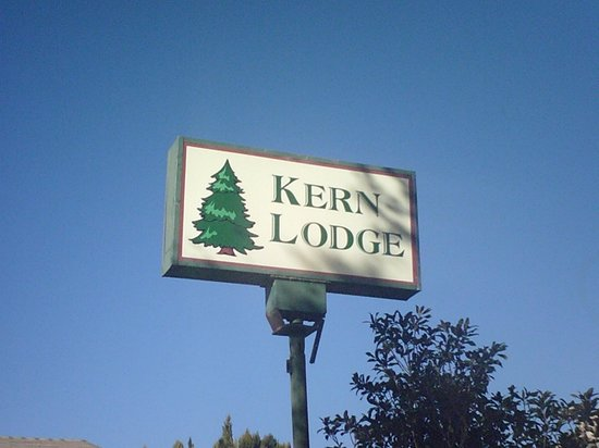The Kern Lodge: sign