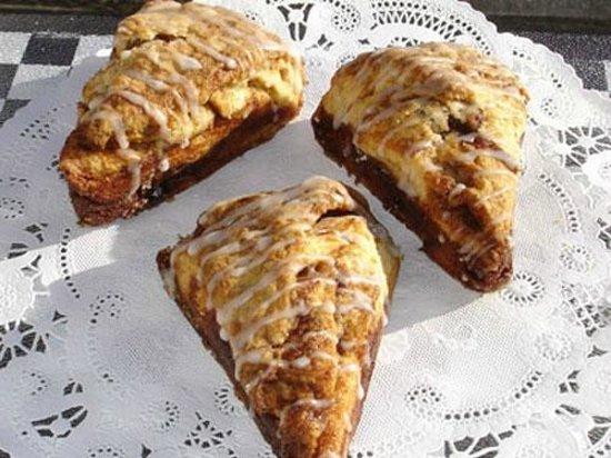 """Seal Rock Espresso & Bakery: """"Cinnamon Bun Scones"""" - crispy layers of cinnamon and brown sugar"""