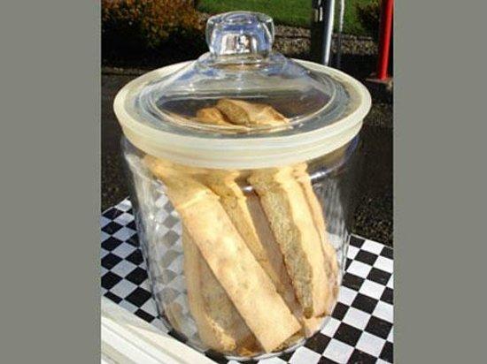 Seal Rock Espresso & Bakery: Handmade Biscotti: cherry almond, chocolate hazelnut, ginger three ways, anise