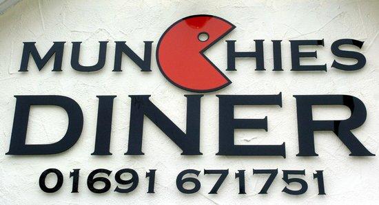 Munchies Diner: Munchies Logo & Telephone Number