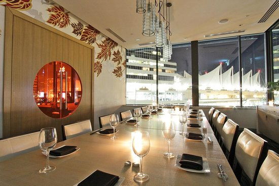 Blue sky private dining room picture of miku vancouver for Best private dining rooms vancouver