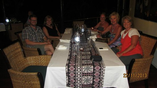 Royal Davui Island Resort : Dinner with Chris the owner