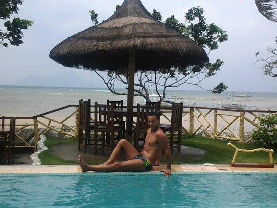 El Nido Four Seasons Resort : VISTA DALLA PISCINA