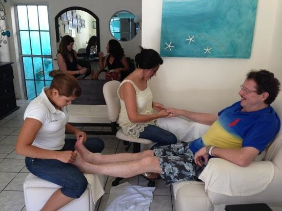 Metamorphosis Day Spa: Enjoying my time in Puerto Vallarta.