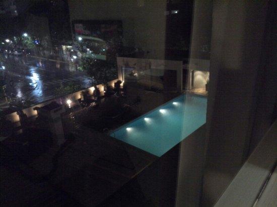 Gran Hotel Provincial San Juan: Se puede cenar a la orilla de la pileta