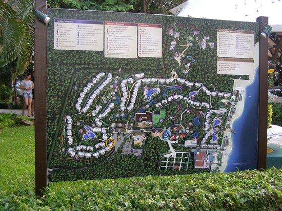 Sandos Caracol Eco Resort: resort map (no paper ones; eco)