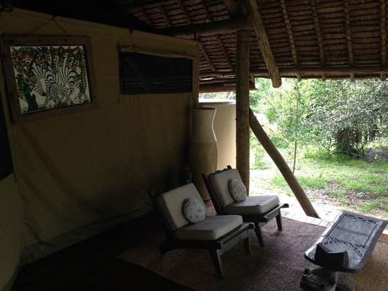 Siwandu: The front deck- notice there is even art!