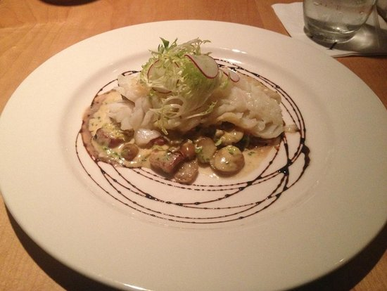 BB's Restaurant + Bar: Cod with shredded brussel sprouts
