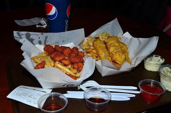 Island Fish & Chips: フィッシュ&チップスもポップコーンシュリンプも美味しい。