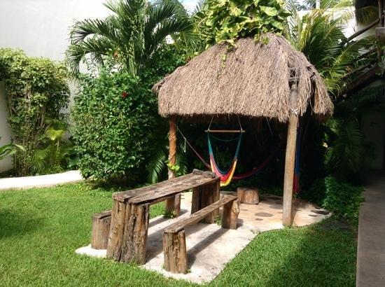 Hostel el Meson de Tulum: patio