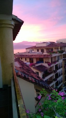 Velas Vallarta: View from the balcony of 2814 looking toward the south building