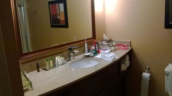 DoubleTree by Hilton Hotel Johnson City: Large vanity no towel racks