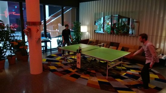 25hours Hotel Zurich West: Another table tennis table set up (within hotel)