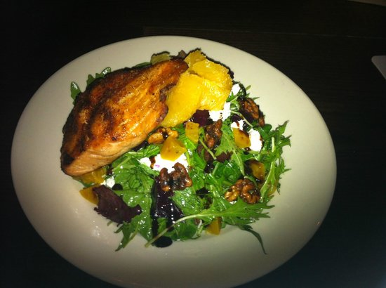 Little Tap House: beet salad with salmon