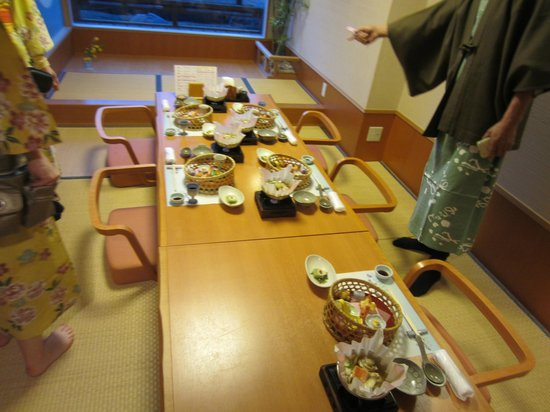 Lake Land Hotel Mizunosato: Our traditional dinner lasted several hours with many courses
