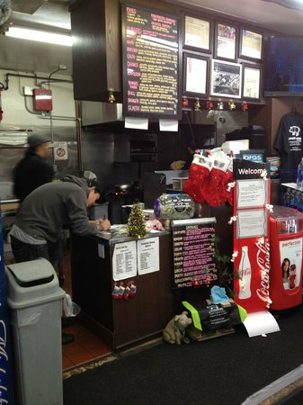 The Standing Room: What the counter looks like.