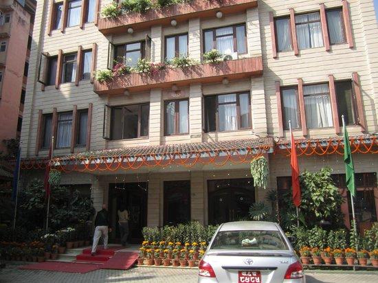 Hotel Marshyangdi front entrance