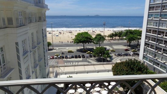 Belmond Copacabana Palace: View from 7th floor in the annex.
