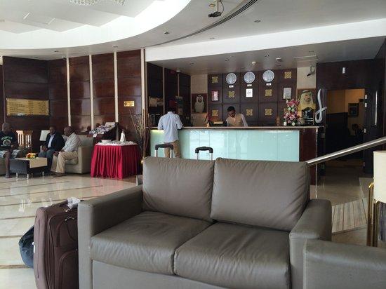 Landmark Hotel Riqqa : The reception. Small but sufficient