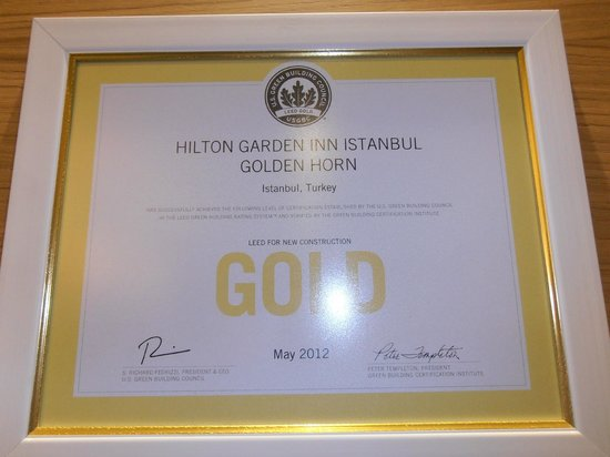 Hilton Garden Inn Istanbul Golden Horn Turkey: Award