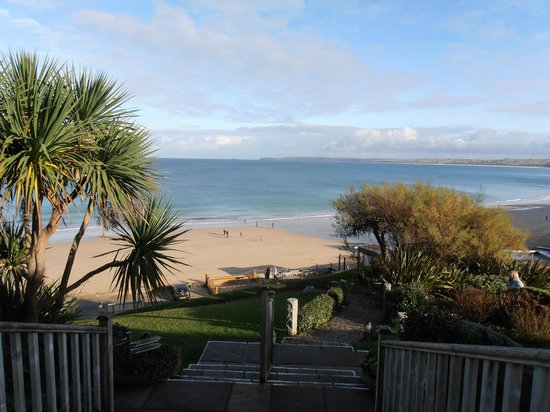 Carbis Bay Hotel & Estate: View from the conservatory of the hotel