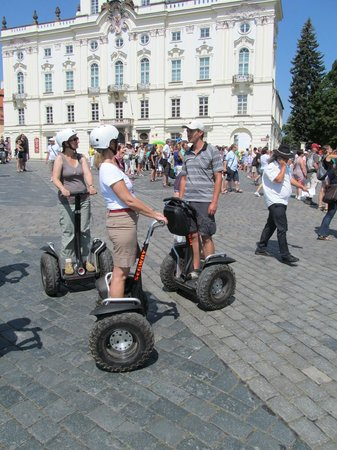 Segway Rent Prague : Looks easy !