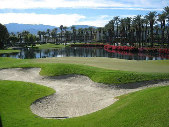 Palm and Valley Golf Courses at Desert Springs: Palm Course, 18th Hole Green.