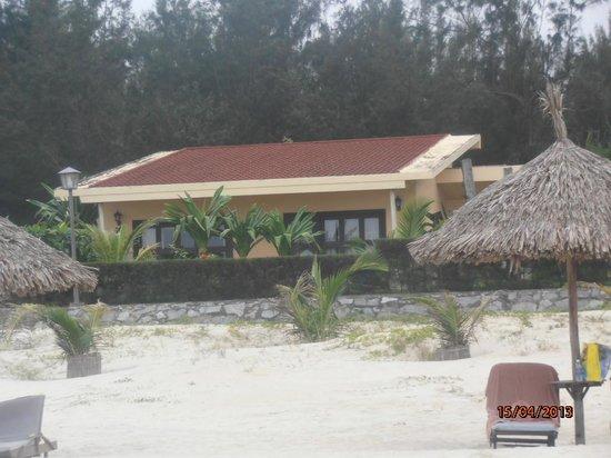 Centara Sandy Beach Resort Danang: View of our villa from the beach