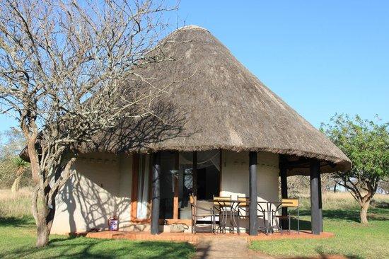 Zululand Safari Lodge: Unser Chalet von außen