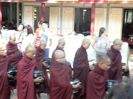 Amarapura, Burma: monks in action