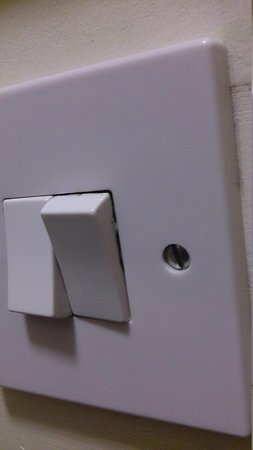 Campanile Hotel Leicester: faulty light switch, gave an electric shock
