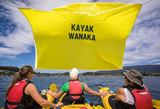 Wanaka Kayaks Sup & Sail: Sailing home on a Full day guided trip