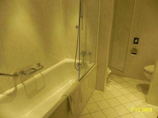 BATHROOM IN OUR DELUXE ROOM 416, HOTEL BRISTOL, DECEMBER 2013.