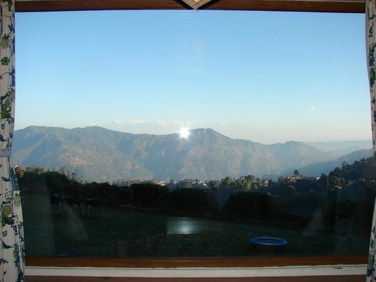 Soulitude in the Himalayas: window outside view