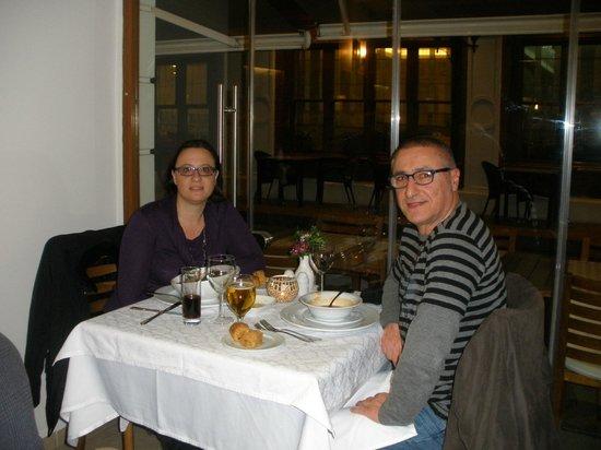 Erboy Hotel: cenando en el comedor Pasazade