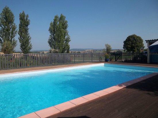 Les Passiflores : Grande et belle piscine située au coeur du jardin