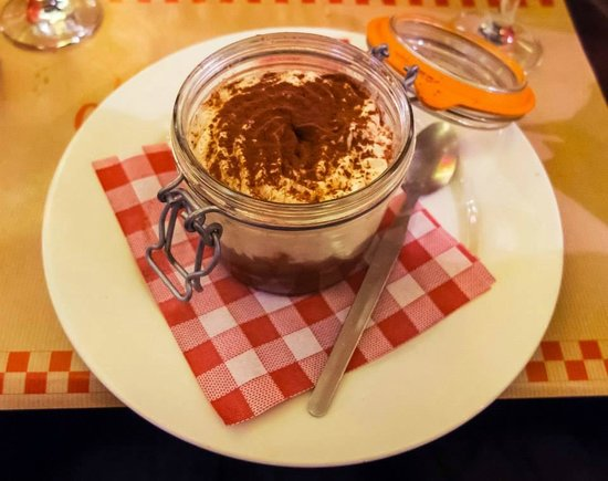 Chez Lili et Marcel: tiramisu au Nutella