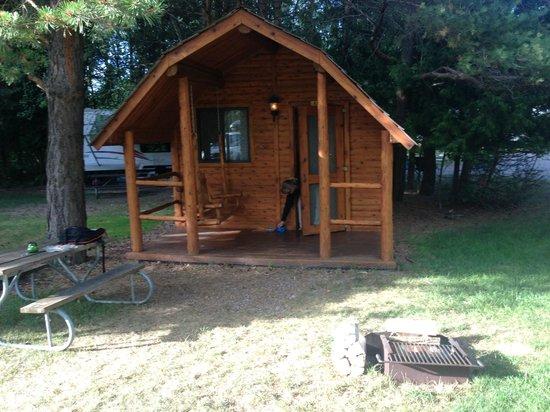 Petoskey KOA : 1 room pet friendly cabin