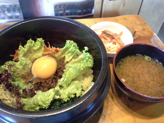 Shinaburo Korean Eating House: BIBIMBAP with Kimchi and Soup