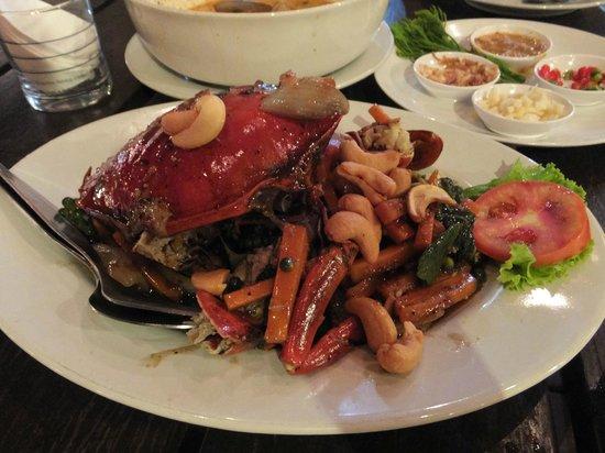Ruantalay Sea food on the sea: カニの黒胡椒炒め