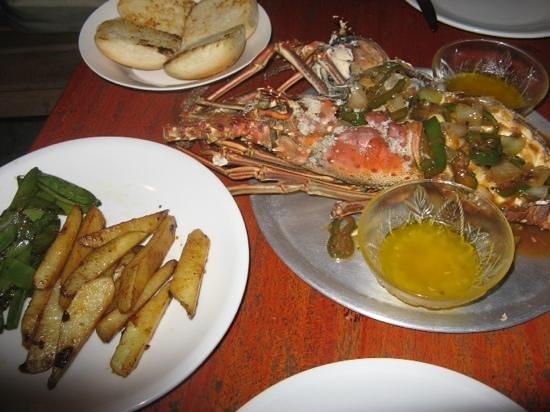 Casa Nostra: lobster dinner....the best since my days in Boston