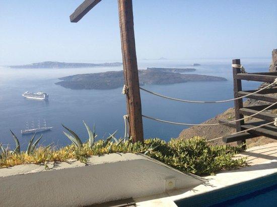 Honeymoon Petra Villas: Aussicht von unserer Terrasse