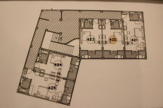 Rimping Village: Floor Plan of our wing